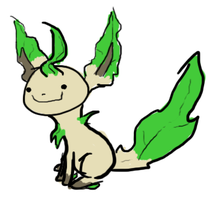 a leafeon by xKIBAx