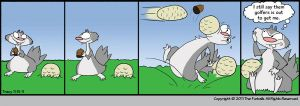 Furballed: Gathering Acorns by twiggy-trace