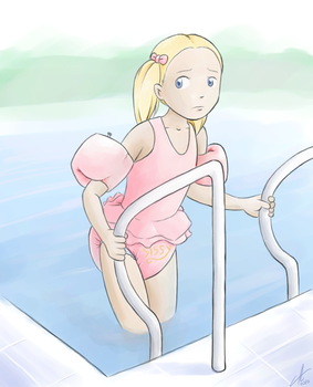 Swimming Pool Sissy by The-Padded-Room