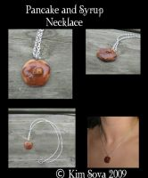 Pancake and Syrup necklace by teiris