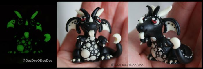 Crescent Moon Glow in the Dark Dragon - Cheeky Son by ItsaBumbleDee