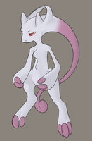 Mewtwo Y by CloudsOnMonday