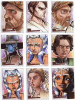 Clone Wars Sketch Cards 2 by prmedia