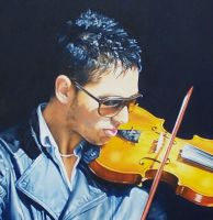 Serenade- detail Oil Painting by AstridBruning