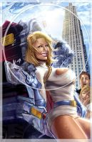 Powergirl, brand new version by J-Estacado