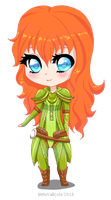 Chibi Artemis by littleValkyrie by SiniminiART