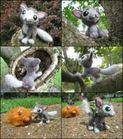 Posable Needle Felted Mr. Mumbles by SnowFox102