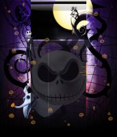 Jack Skellington YouTube BG by oictvoART