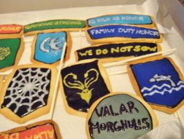Game of Thrones Sugar Cookies Pt. 1 by Stephanefalies