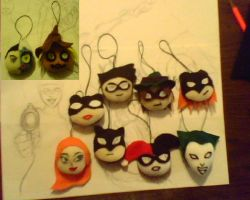 Batman X-mas Plush Ornaments by IrashiRyuu