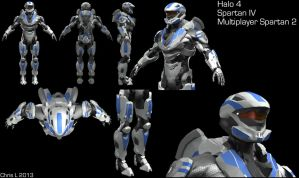 Halo 4 Custom Multiplayer Spartan 2 by Dutch02