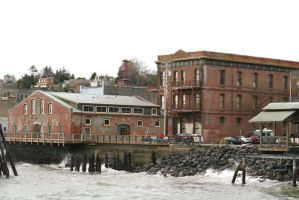 Old buildings in Port Townsend by Pabloramosart