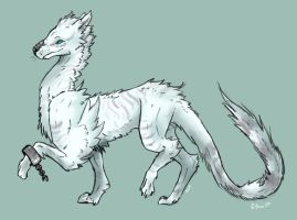 Canid Dragoness Dawn by Neoni245