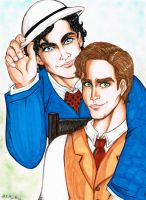 Damon and Stefan 1864 by TwinkelMalfidus