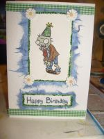 Plants VS zombies Bday Card by PossumPip-Creations