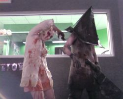 silent hill nurse and pyramid by Cypher2b