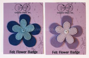 Felt Flowers - Simply Beautiful - Lilac and Blue by bicyclegasoline