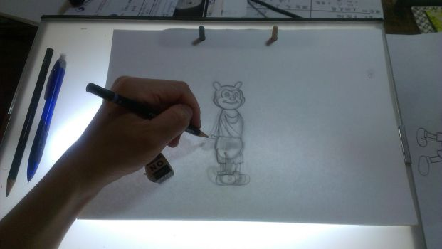 My hand drawn animated characters by Chen-Bo-Quan