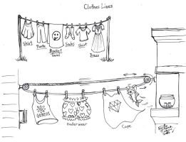 Draw Clothes Lines by Diana-Huang