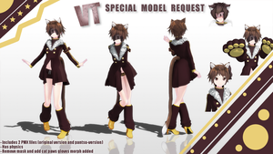 [MMD] SPECIAL OC Request : VT-chan by Kevin-BS23