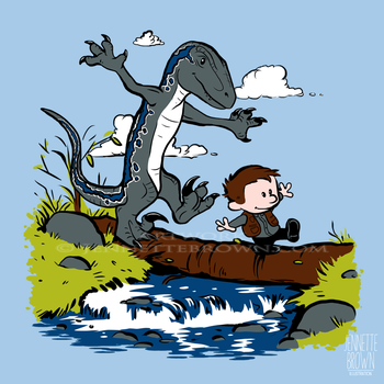 Owen and Blue - T-shirt Design by sugarpoultry