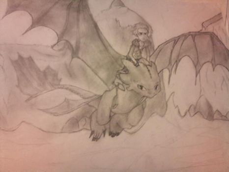 Toothless and Hiccup by Douchi
