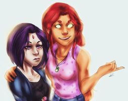 Rae and Star by MegS-ILS