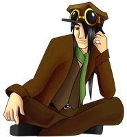 Steampunk Mathew Returns by SillyEwe