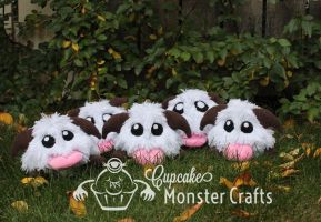 Hand made Poro Plushies by CupCakeMonsterCrafts