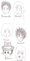 KHR Head Sketches 2 by Chrysanthe-mums