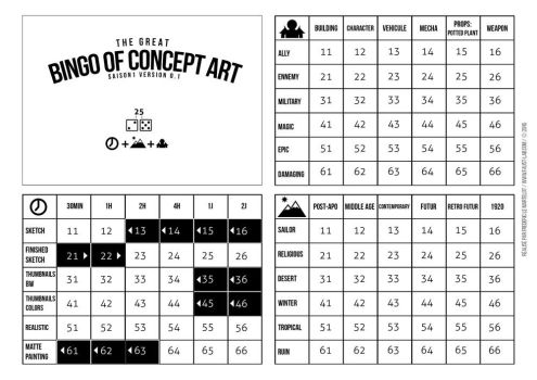 The Bingo of Concept Art Us/Fr by faust8