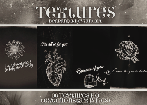 Textures 013 // MONSTA X (THE CLAN Pt. 1) by BEAPANDA