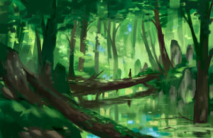 Environment Sketch - Swamp by skybrush