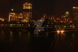 Boston by Night by 10000Greetings