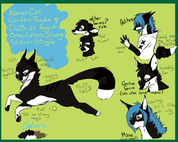 Cat's reference sheet by Neko-longtail