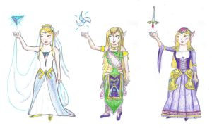 Zeldanime Contest - Zelda's Dress Design Entry by Linksliltri4ce