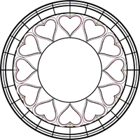 Stained Glass Template 9 ver.2 by Maleficent84