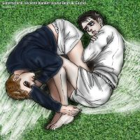 Supernatural young Dean-Castiel : security blanket by noji1203