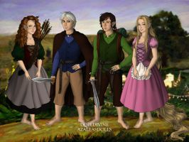 The Big Four as hobbits by evenstar29