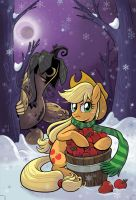 Applejack vs Sass Squash by BrendaHickey