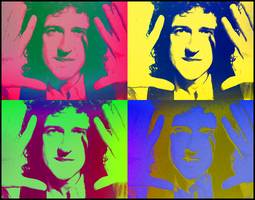 Brian May Pop Art by ElAdministrador