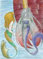 Two Mermaids Colored by BakurasPlayMate