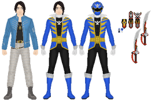 Joe Gibken, Gokai Blue by Taiko554