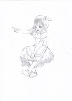 Annie Red ridding hood sketch by LeonBrony