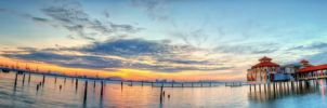 QE2, Penang - Sunrise (Fisheye and Pano style) by fighteden