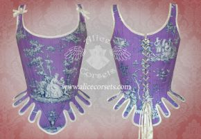 Pastoral Rococo Stay ~ Historical Overbust Corset by Alice-Corsets