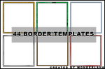 44 Icon Border Templates by Foxxie-Chan