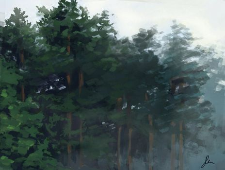 Forest painting by KNIG0N77