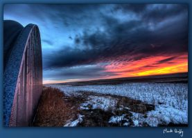 Prairie Sunset in Winter by pictureguy