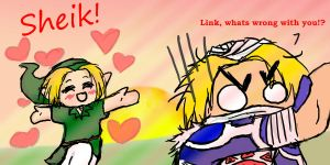 Valentines day- LinkxSheik by Astatos-Luna
